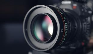 Closeup image of camera lens