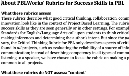 This is a thumbnail image of the downloadable file: How to Use PBLWorks' Rubrics for Success Skills in PBL