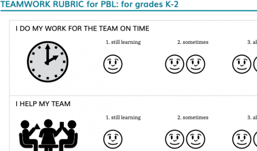 Thumbnail of this downloadable resource called K-2 Teamwork Rubric