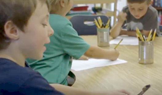 Teacher Sara Lev leads her transitional kindergarten students in an Interdisciplinary project in this video